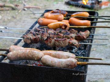 Мясо на костре
