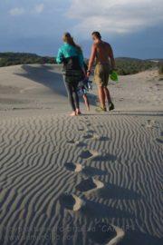 Оставляем свои следы на пляже города Патара