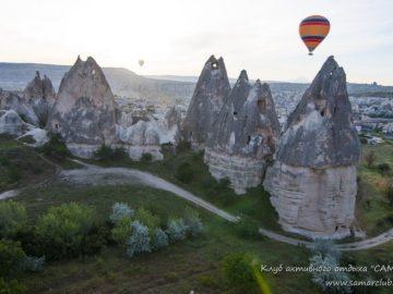 Вид на скалы с воздушного шара