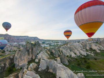 Воздушные шары над скалами