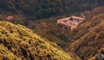 Рильский монастырь вид сверху