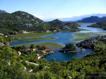 Скадарское озеро Вид сверху