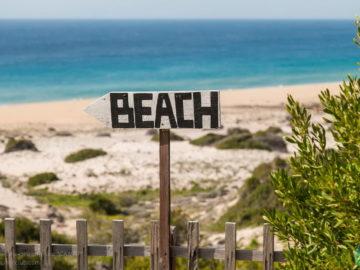 Указатель на пляж