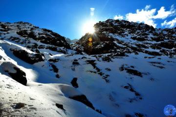 В заснеженных горах