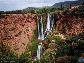 Водопад Узуд общий вид
