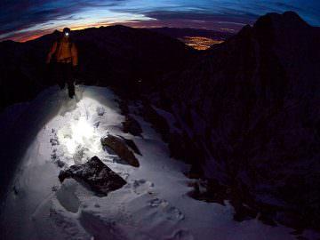 В темноте по горам