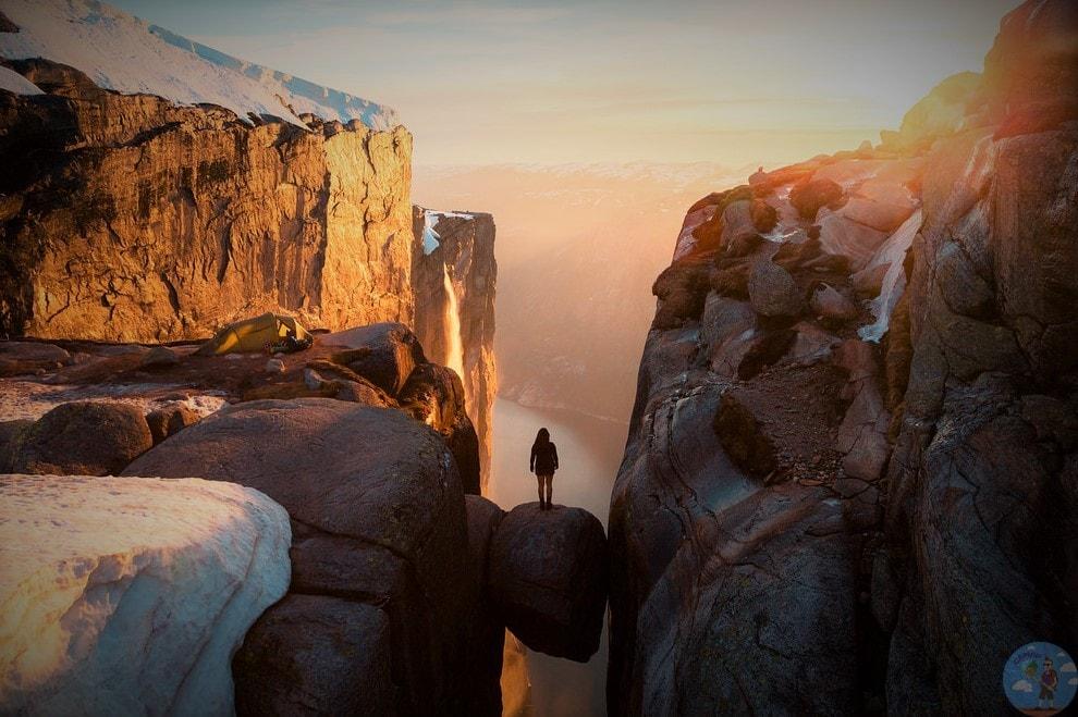 Закат на камне Горошины