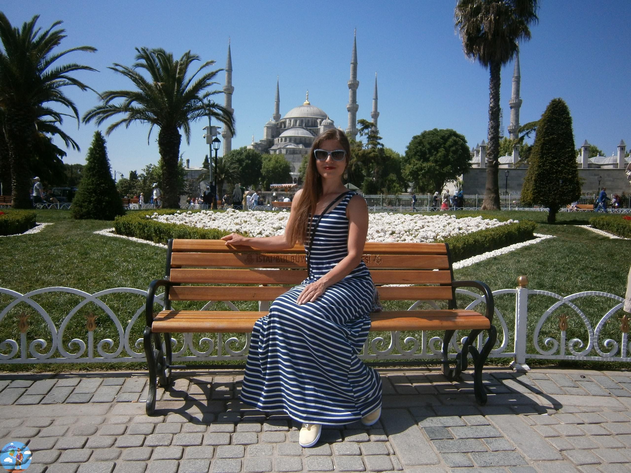Дворец Долмабахче голубая мечеть