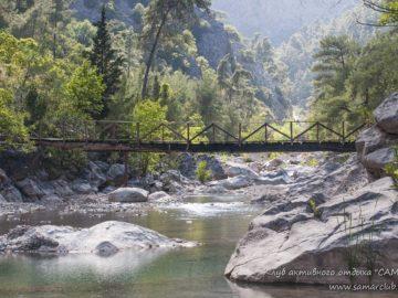 Мост через горную реку