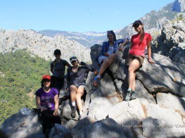 На камнях в горах