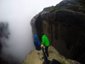 Смотрим вниз в туман