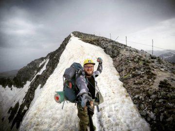 Снежная вершина норы