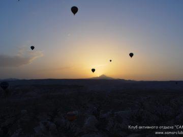 Воздушные шары и закат