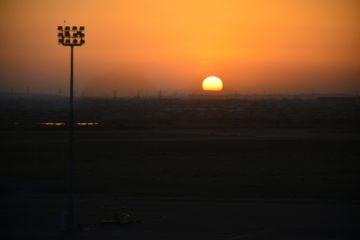 Закат в аэропорту