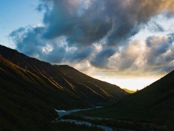 Закат в долине
