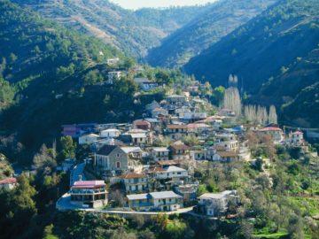 Город Никосия вид сверху