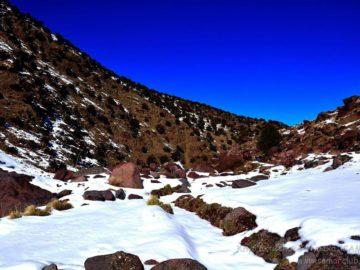 Камни в снегу