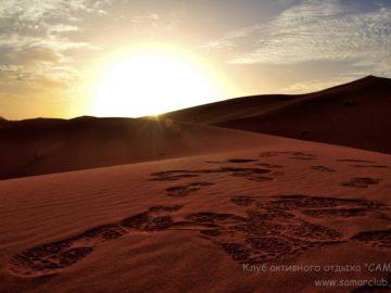 Следы в пустыне