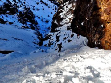 Спуск по снегу