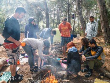 Чаепитие в лагере
