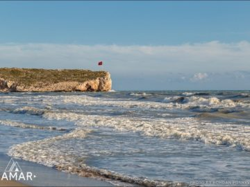 Флаг Турции на берегу