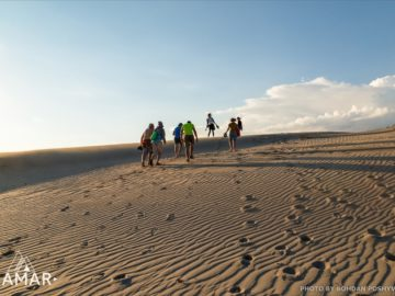 Оставляем следы на песке