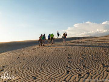 По песчаным дюнам