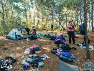 Сбор палаток