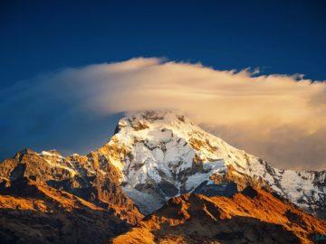 Пик горы на закате